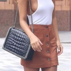 Zara black leather bag